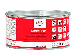 Полиэфирная шпатлёвка с алюминиевым наполнителем metallic (2.0 кг)