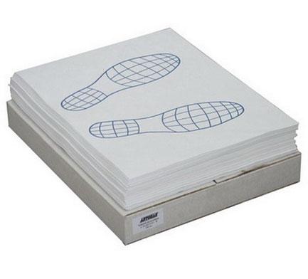 Коврики бумажные на пол двухслойные «следы ног» 500шт