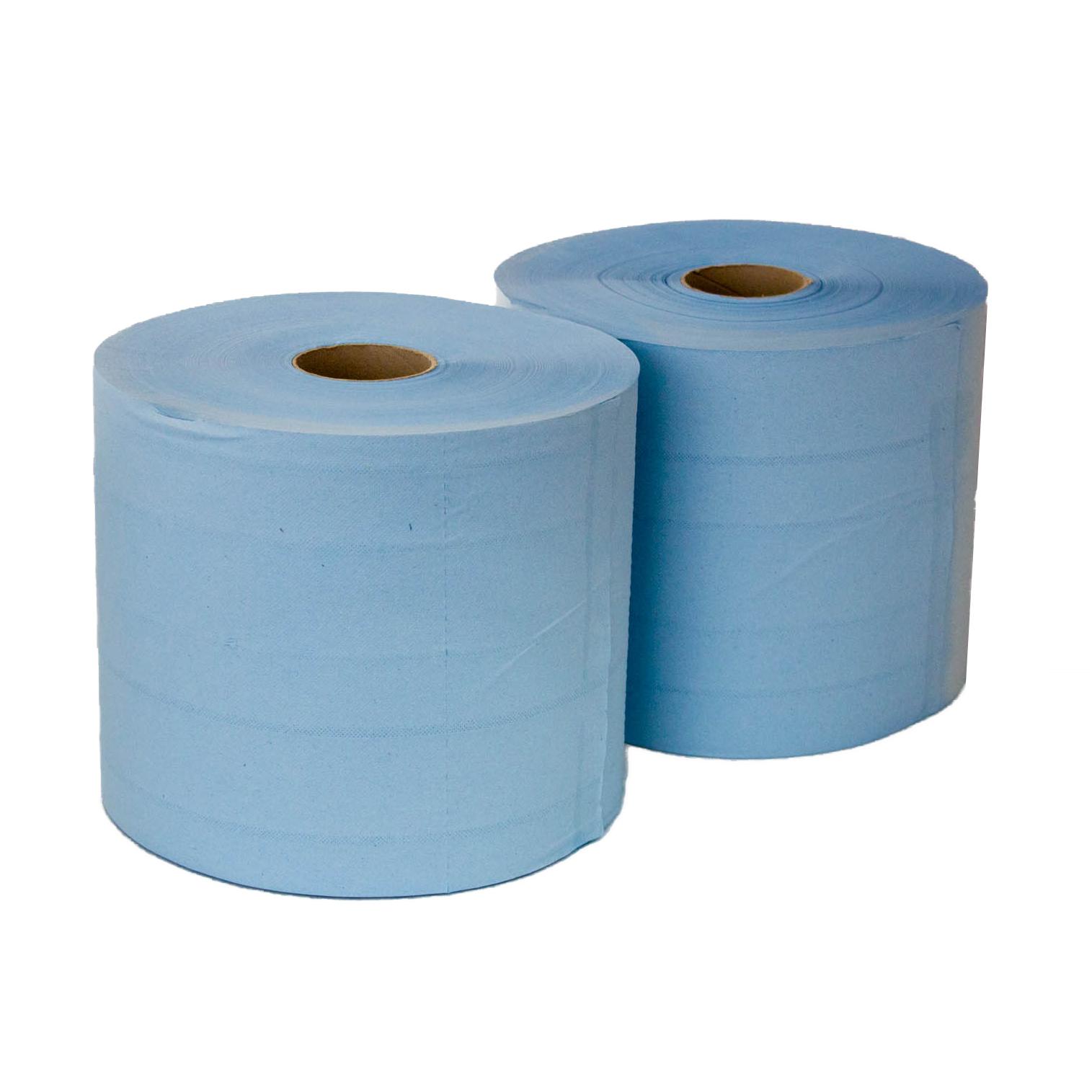 35112/2 Blue wiper Бумага протирочная 24х35, 1000 отрывов 2 слоя, синяя целлюлоза уп.2шт