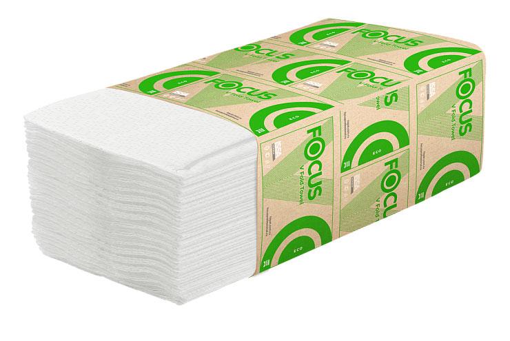5049976 Бумажные листовые полотенца V-сложения 1 слой 23х23, 250листов (уп.15шт)