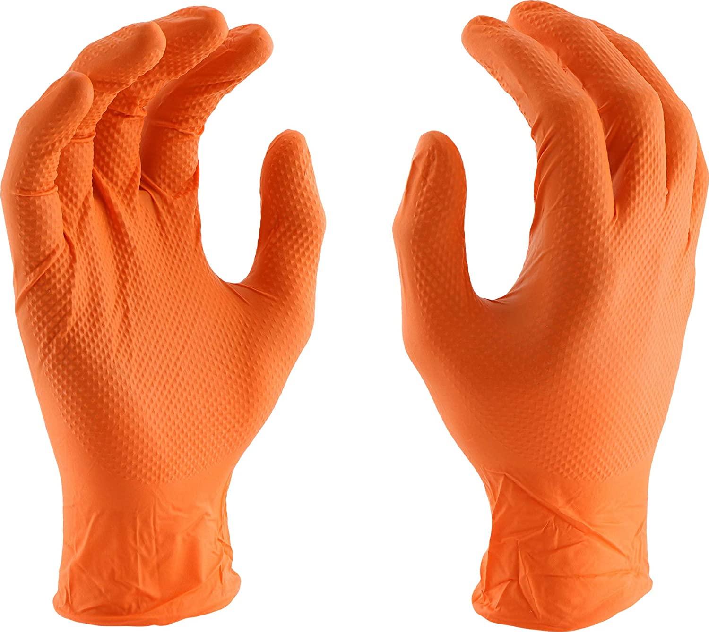 Перчатки Ideall Grip одноразовые нитриловые, 50 шт. (оранжевые)
