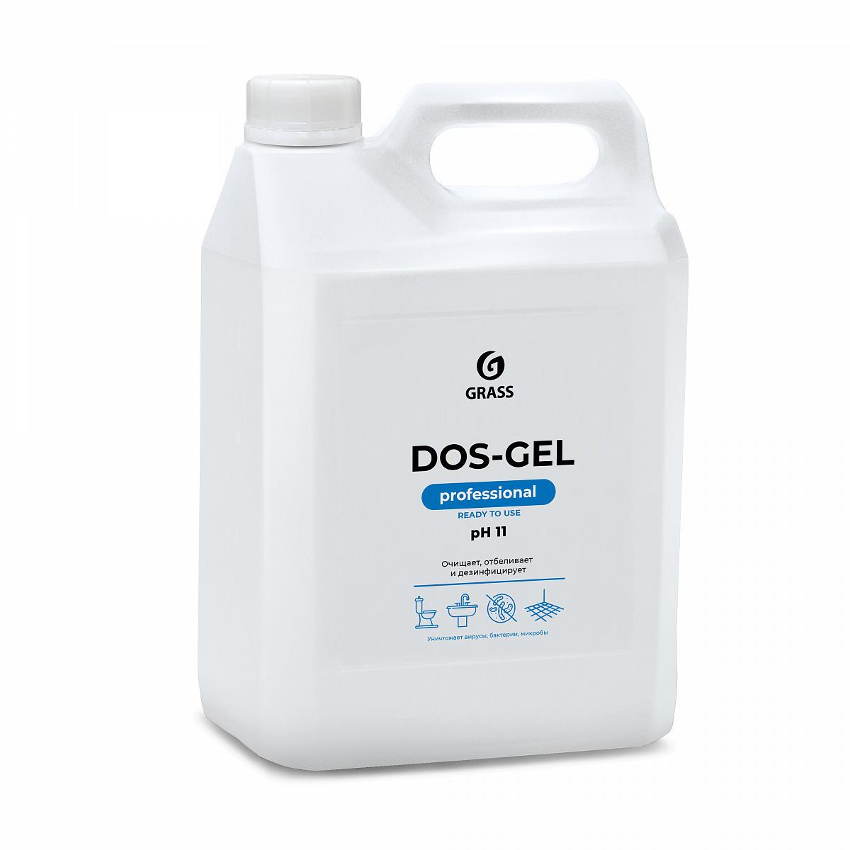 """Grass Дезинфицирующий чистящий гель """"DOS GEL"""" (канистра 5,3 кг) арт.125240"""