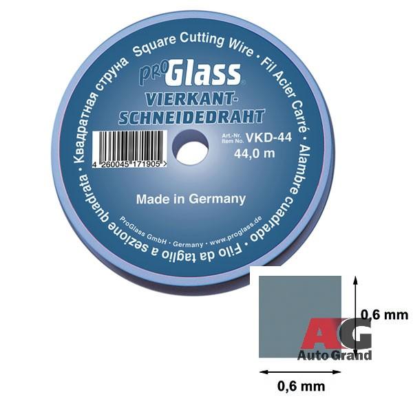 Резальная квадратная струна, 0,6 x 0,6 мм, 44 м на пластиковой катушке (Арт.: VKD-44)
