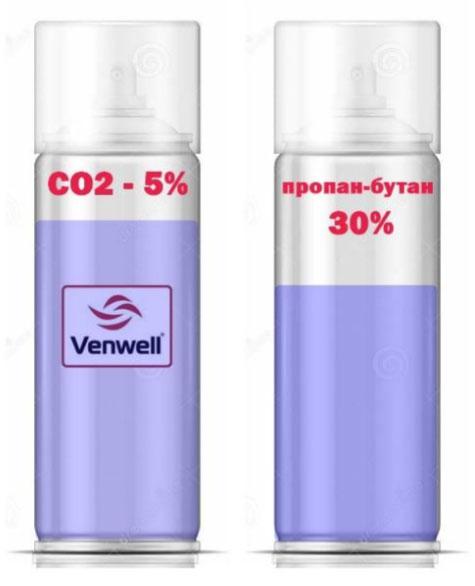 Правильный газ вытеснитель (CО2)
